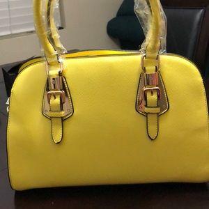 Handbags - Yellow tote bag